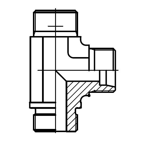LE-R - hydraulické L hrdlo s těsnění hranou