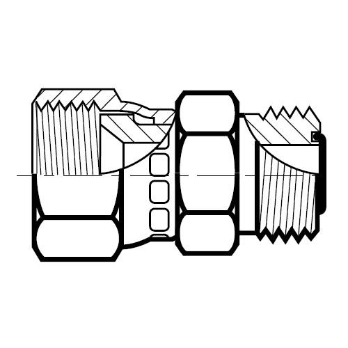 LOHMX6 - hydraulická převodní spojka na O-Lok\Triple-Lok