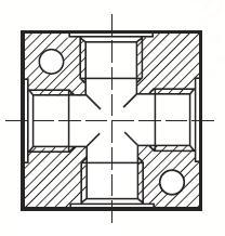 MANIFDL - pneumatická hliníková rozvodná kostka adaptéru