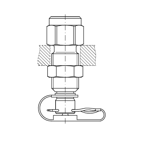 Měřící přípojky k manometru MAV-MA1 pin-lock se závlačkou