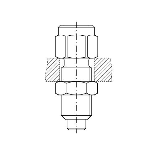Měřící přípojky k manometru MAV-MA3 připojení M16x2
