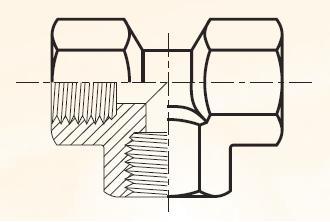 MMO444 - pneumatický T adaptée mosazný
