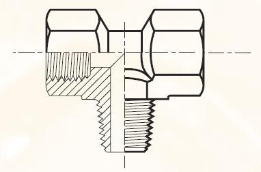MMS443 - pneumatický ET adaptér mosazný