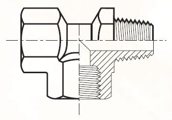 MRO434 - pneumatický EL adaptér mosazný