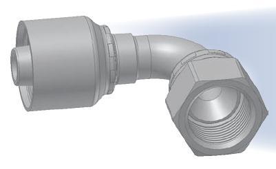 MZ - koncovka středotlaká 90°úhlová s objímkou a maticí