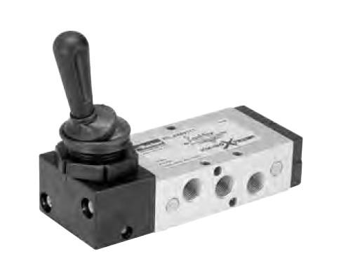 Pneumatické páčkou ovládané ventily P2L (5/2 a 5/3)