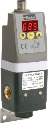 "P3P-R - pneumatické regulátory s elektronikou 1/8"", 1/4"""