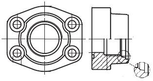 PAFS-M - hydraulická vysokotlaká přímá příruba šroubení