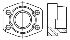 PCFF-G - hydraulická vysokotlaká celá protipříruba šroubení