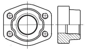 PCFF-N - hydraulická vysokotlaká přímá protipříruba šroubení