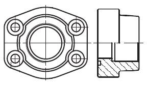 PFF-G - hydraulická vysokotlaká celá příruba šroubení