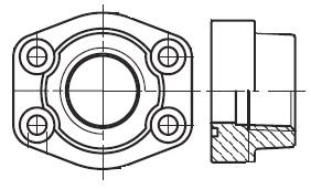 PFF-N - hydraulická vysokotlaká přímá příruba šroubení
