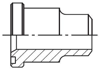 PSFA-B - vysokotlaký čtvercový adaptér příruby na V-sváry