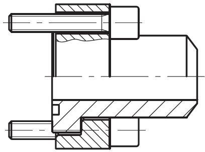 PSF-B - hydraulická vysokotlaká čtvercová příruba na V-sváry