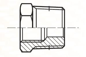 PTR34BL - pneumatický přímý adaptér redukovaný