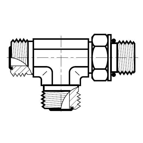 R5OMLO - hydraulická stavitelná EL spojka šroubení O-Lok