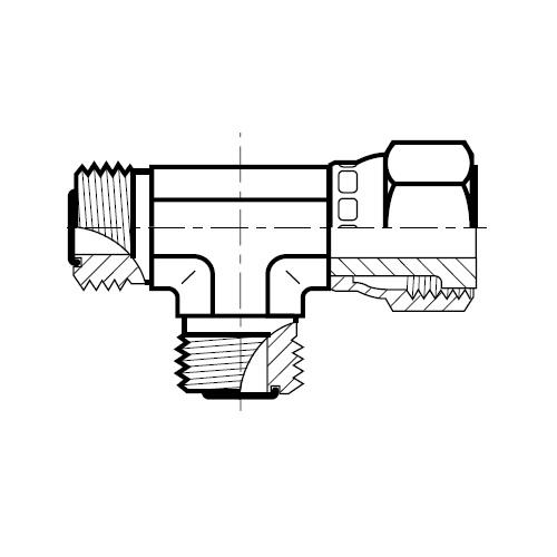 R6MLO - hydraulická EL spojka s otočnou maticí O-Lok