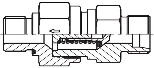 RHZ-M-ED - hydraulický jednosměrný zpětný ventil