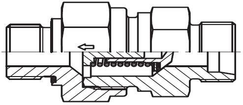 RHZ-R-ED - hydraulický jednosměrný zpětný ventil