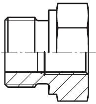 RI - hydraulická redukční spojka s těsnící hranou