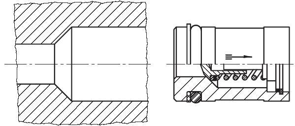 RVP - těleso jednosměrného zpětného ventilu