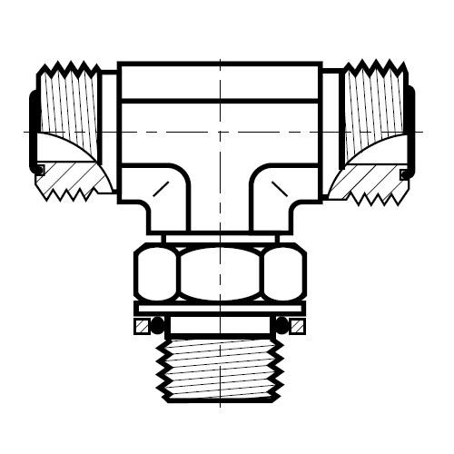 S4OMLO - hydraulická stavitelná T spojka O-Lok