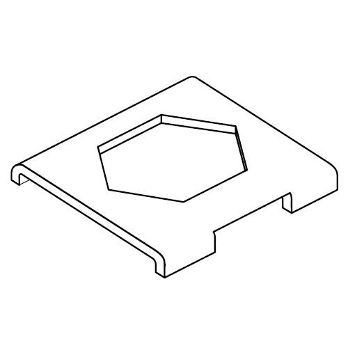 SBB - pojistný plech pro příchyty trubek série B