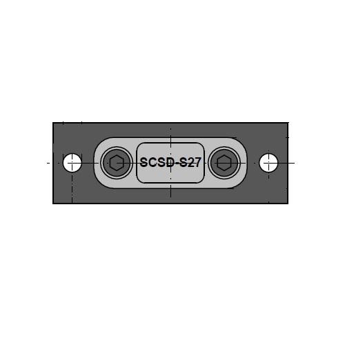 Příruby pro přichycení měřícího zařízení SCSD