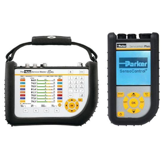 Přenosná zařízení SensoControl Parker pro diagnostiku hydrauliky