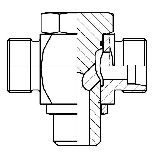 TH-M - vysokotlaká stavitelná T přípojka