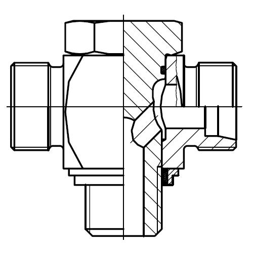 TH-M-KDS - vysokotlaká stavitelná T připojka