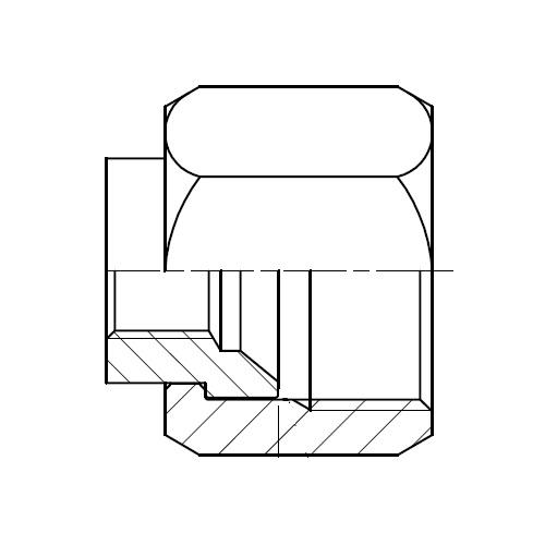 TTP4MX - hydraulický zkušební konektor na EMA3 Triple-Lok® 37°