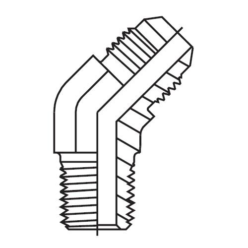 V3MX - hydraulická 45°úhlová spojka Triple-Lok® 37°