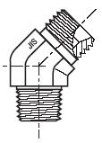 V3P4 - hydraulický 45°úhlový adaptér