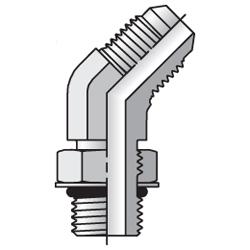 V4OMX - hydraulická stavitelná 45°úhlová spojka Triple-Lok® 37°