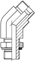 VEE-M - stavitelné 45° úhlové šroubení s pojistnou maticí
