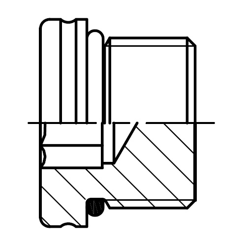 VSTI M-OR - zátka šroubení pro konce trubek s O-kroužkem