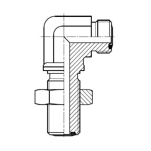 WEMLO - hydraulická 90°úhlová panelová spojka šroubení O-Lok