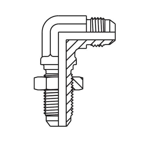 WEMTX - hydraulická 90°úhlová panelová spojka Triple-Lok® 37°