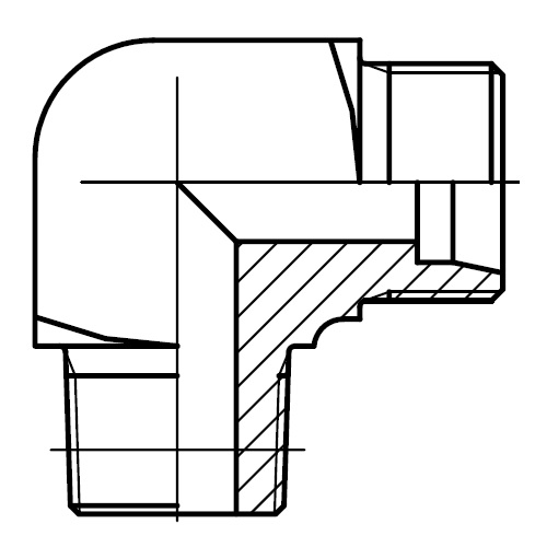 WE-M(KEG) - hydraulické 90°úhlové hrdlo šroubení