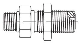 WF5OLO - hydraulická přímá spojka šroubení panelová