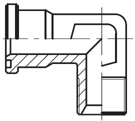 WFS-G - hydraulický 90°ůhlový adaptér příruby šroubení