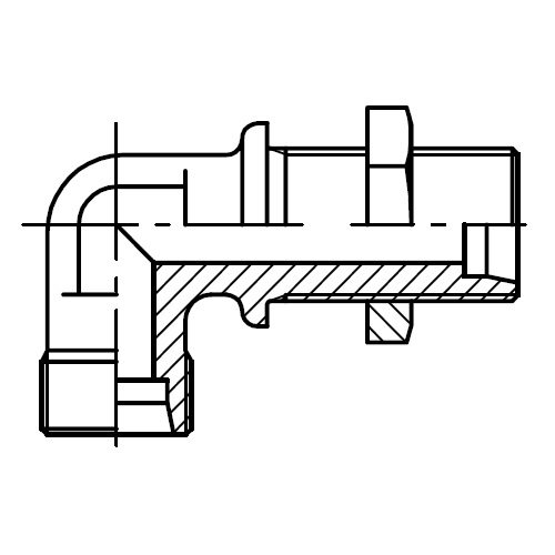 WSV - hydraulická úhlová průchodka šroubení