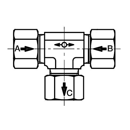 WV - trojcestný přepínací ventil