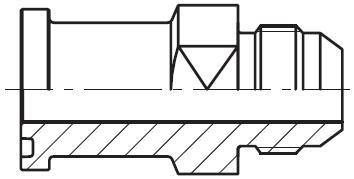 XHQ - hydraulický přímý adaptér příruby šroubení