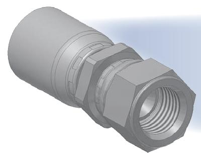 XU - koncovka středotlaká přímá s objímkou a s maticí