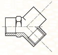 YMMM444BL - pneumatický Y adaptér