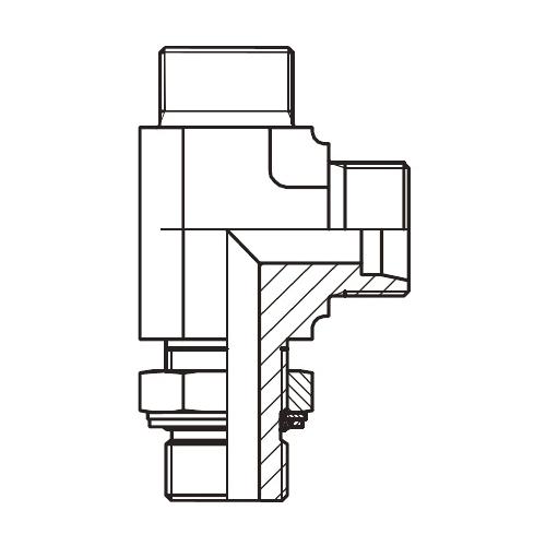 LEE-M - hydraulická stavitelná L spojka s pojistnou maticí
