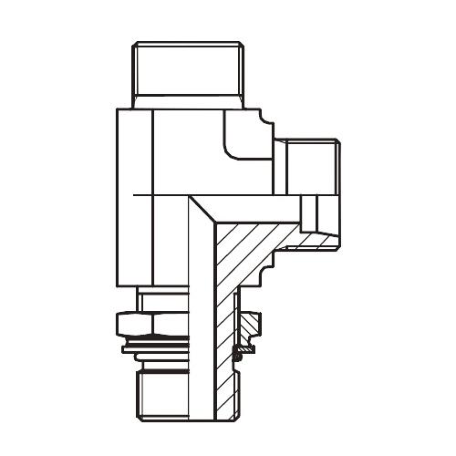LEE-OR - hydraulická stavitelná L spojka s pojistnou maticí