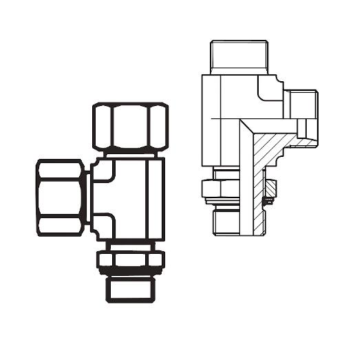 LEE-R - hydraulická stavitelná L spojka s pojistnou maticí